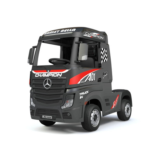 Licensed Mercedes Benz Actros Heavy Truck - Kids Ride on Car (Black) (HL358-BLACK)