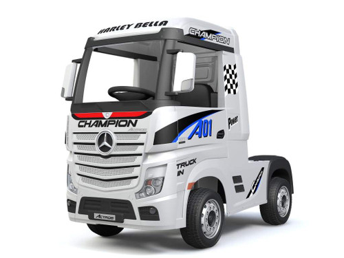 Licensed Mercedes Benz Actros Heavy Truck - Kids Ride on Car (White)