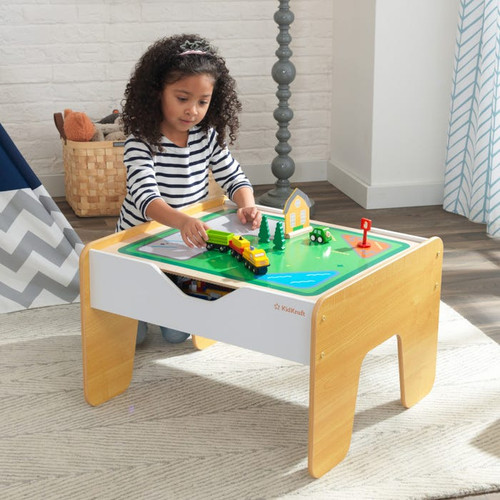 Marketwide 2-in-1 Activity Table with Board - Gray and White