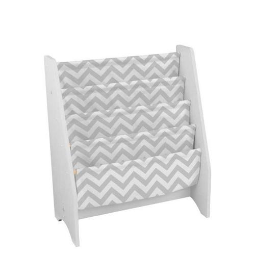 White Sling Bookshelf - Gray