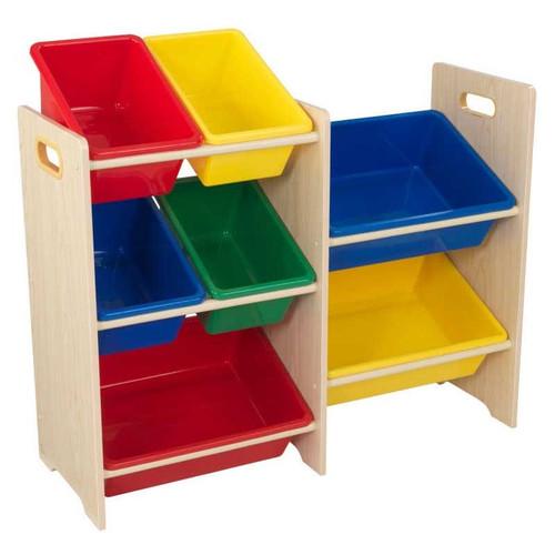 Primary 7 Bin Storage Unit - Natural