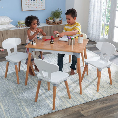 Mid-Century Modern – Kid Table and 4 Chairs Set