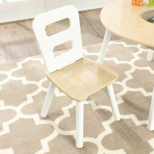 Round Storage Table and Chair Set