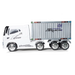 JJ Action Container 12V Electric Ride On Truck (White)