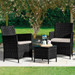 3 Piece Bistro Set (Black)