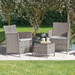 3 Piece Bistro Set (Grey)