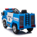 Police Engine 12V Electric Ride On Truck (Blue) - SX1818-BLUE - Funstuff.ie