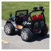 Drifter Raptor Powerful 12V Two Seater 4x4 Electric Ride on Jeep (Black)