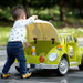 Green Beetle - 12V Kids' Electric Ride On Car (JE158-GREEN)