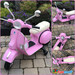 Licensed Vespa 12V Electric Ride On Motorbike (Pink)