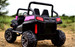 SALE - Ranch Wagon - 24v Two Seater - Remote control ATV Quad 4 Wheeler Electric Ride On - Chunky Rubber Wheels - 4 X Strong Motors - 4wd - Leather Seats - MP3 - Pink