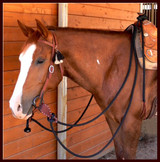 Mecate Reins with optional Slobber Straps.