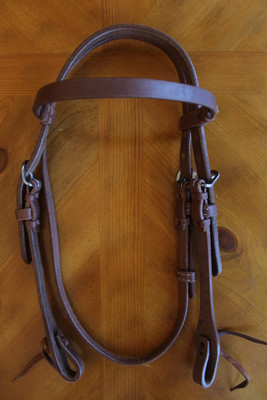 Medium Oil Harness Leather Headstall
