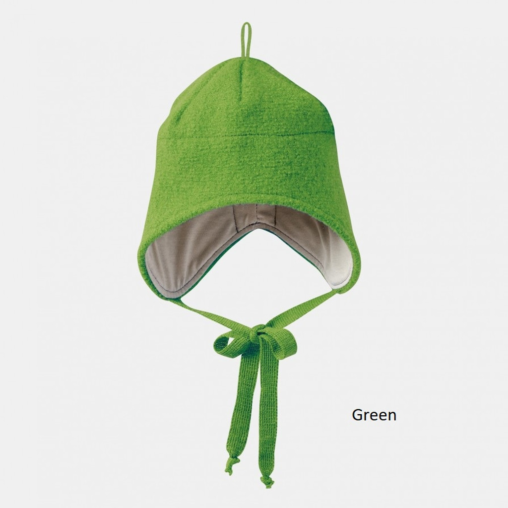 Disana Boiled Wool Hat Green