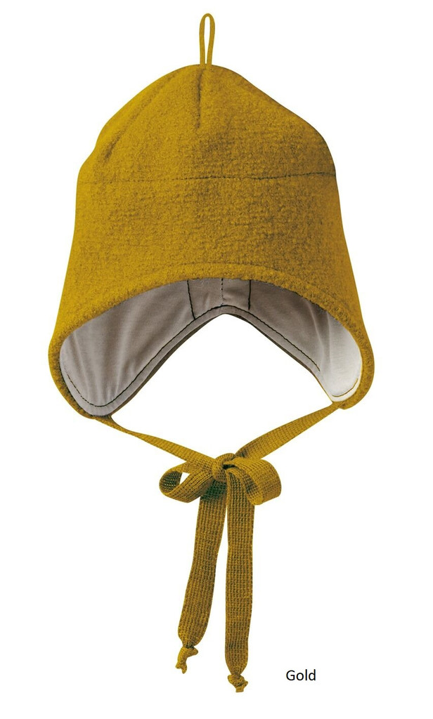 Disana Boiled Wool Hat Gold