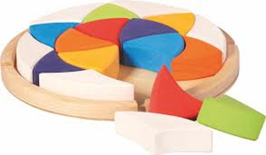 Glueckskaefer Wooden Puzzle - Colour Wheel