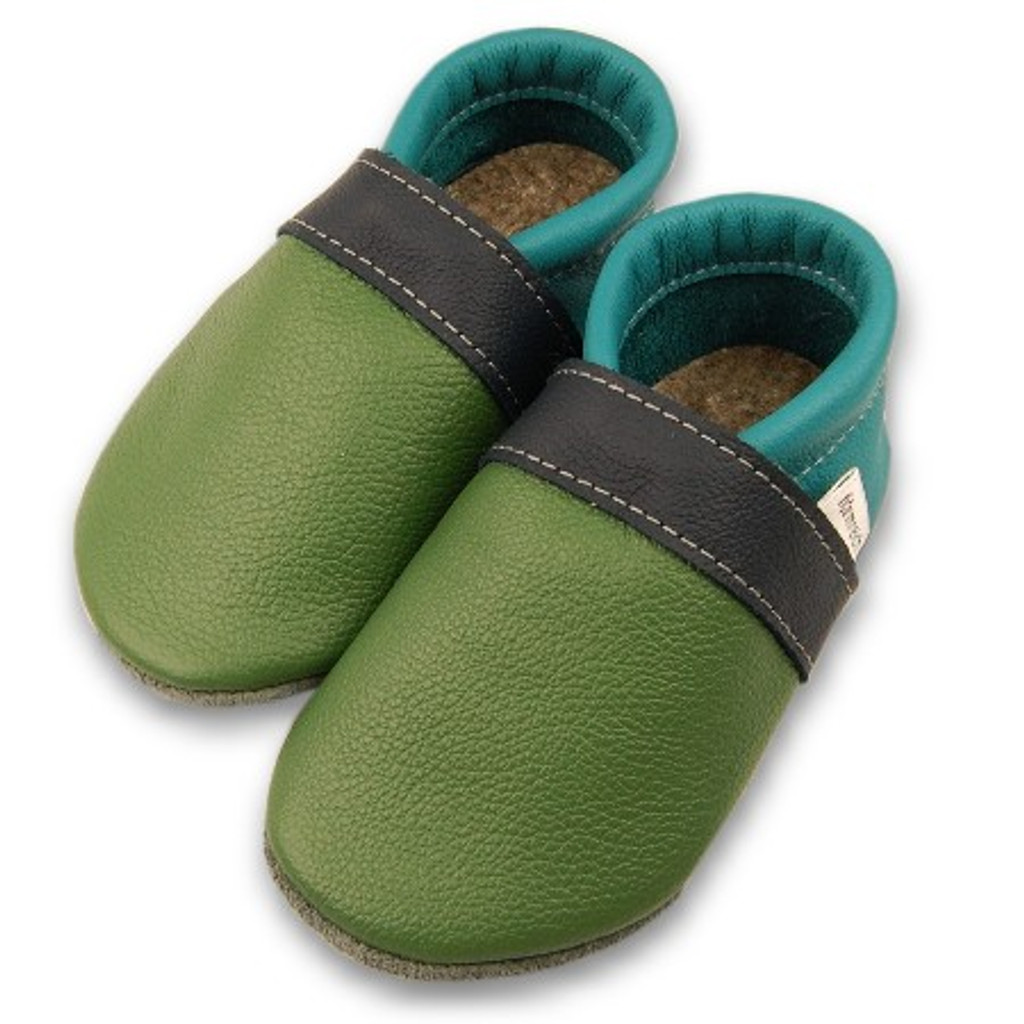 9880ca6ec66ee Formreich Soft Sole Baby Shoes - Grass/Marine/Turquoise