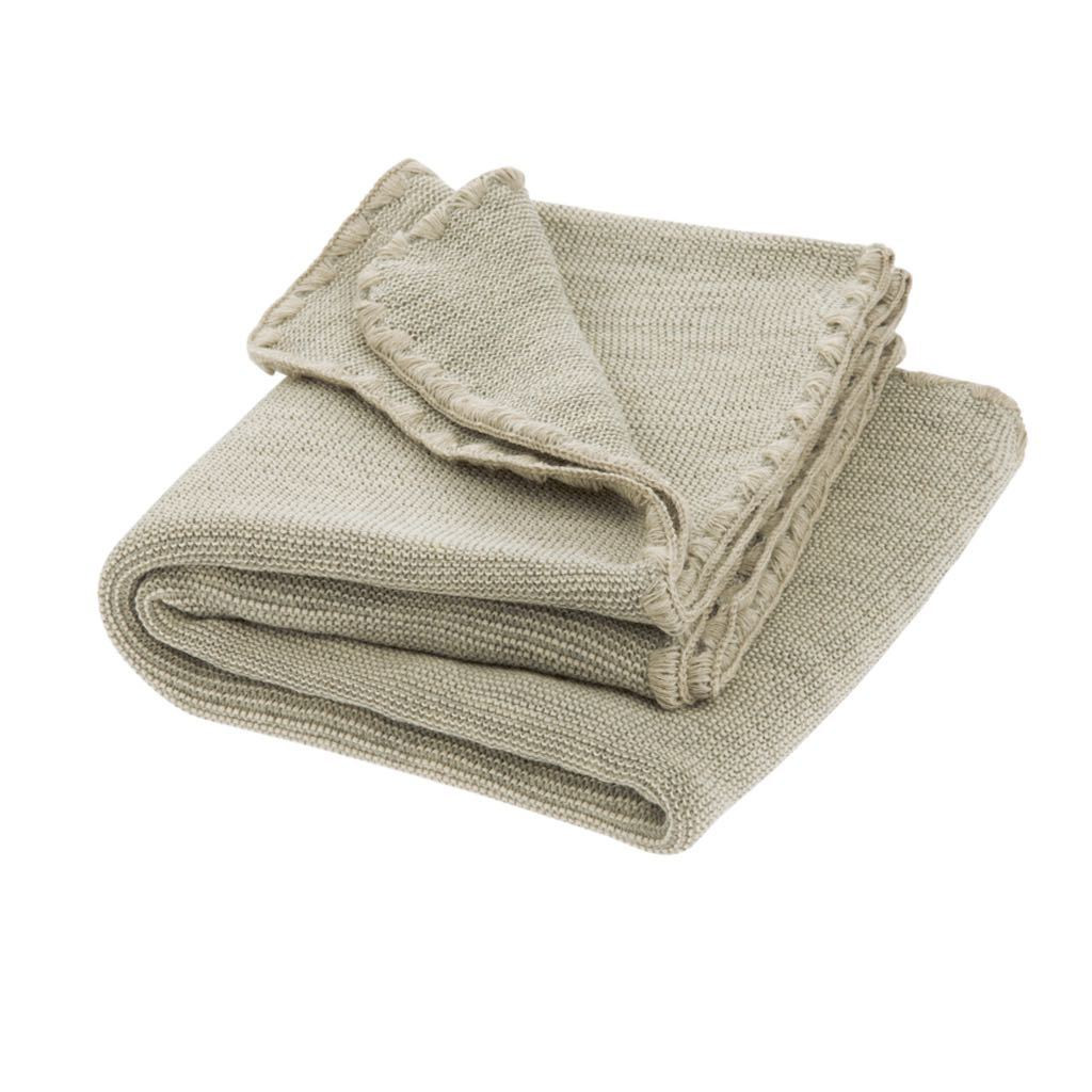 Disana Merino Wool Baby Blanket - Melange Grey/Natural