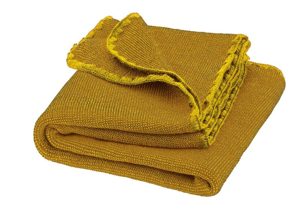 Disana Merino Wool Baby Blanket - Melange Curry/Gold