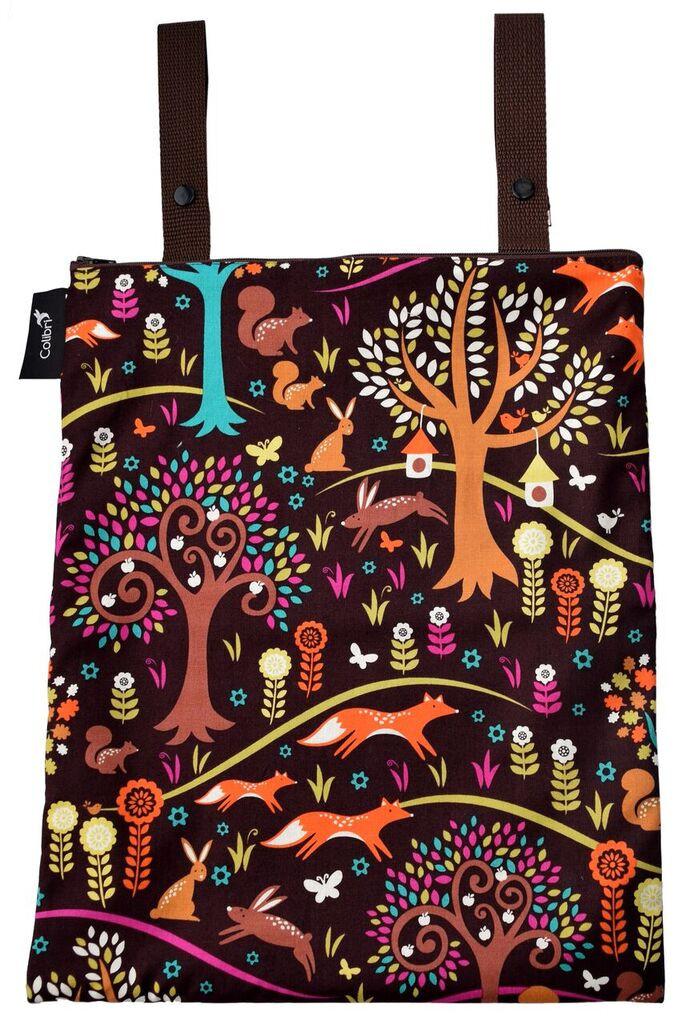 Colibri Medium Wet Bag - Double Strap - Forest Friends