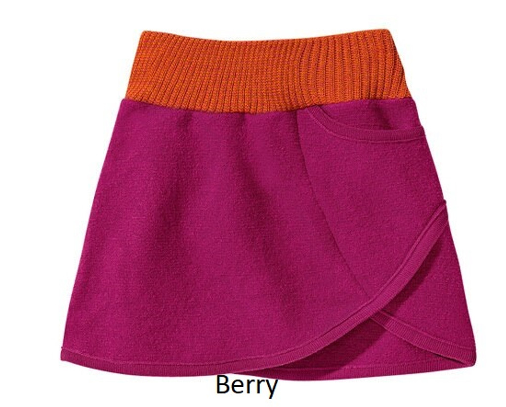 Disana Boiled Wool Skirt Berry