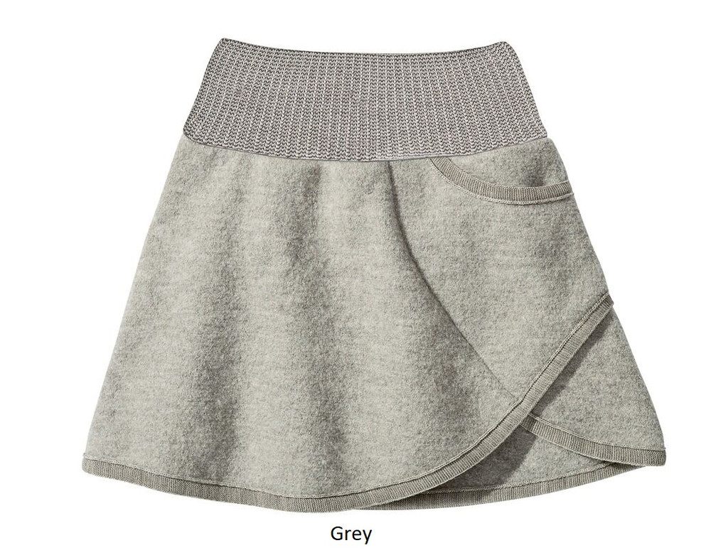 Disana Boiled Wool Skirt Grey