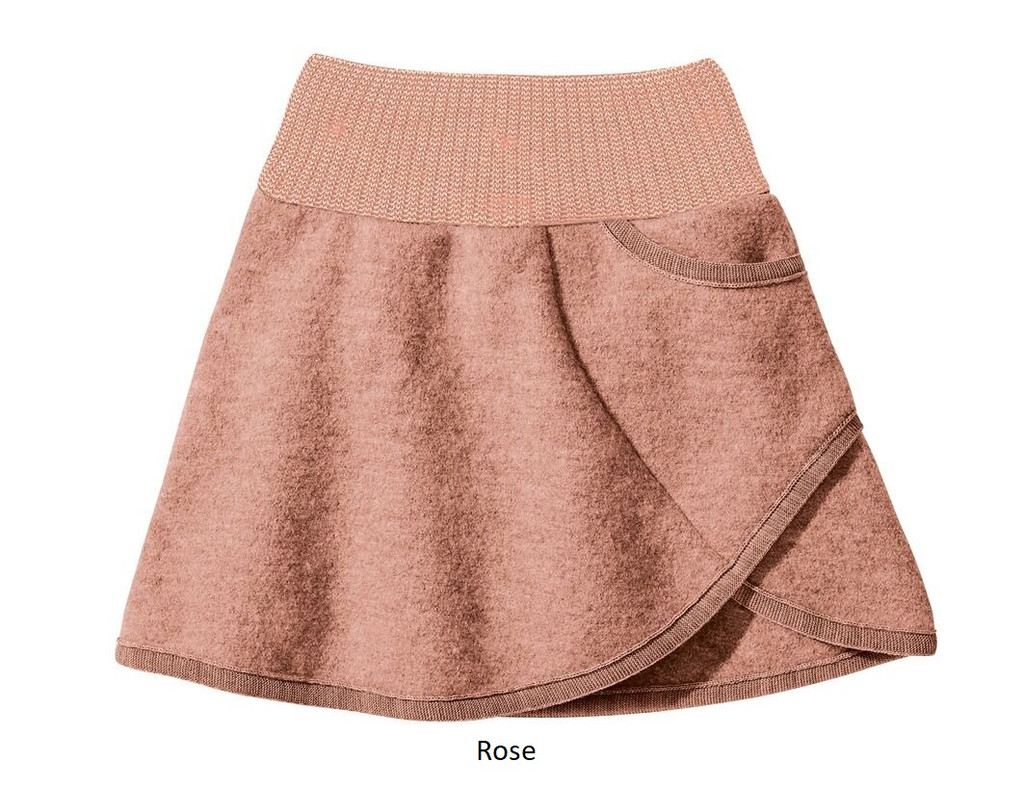 Disana Boiled Wool Skirt Rose