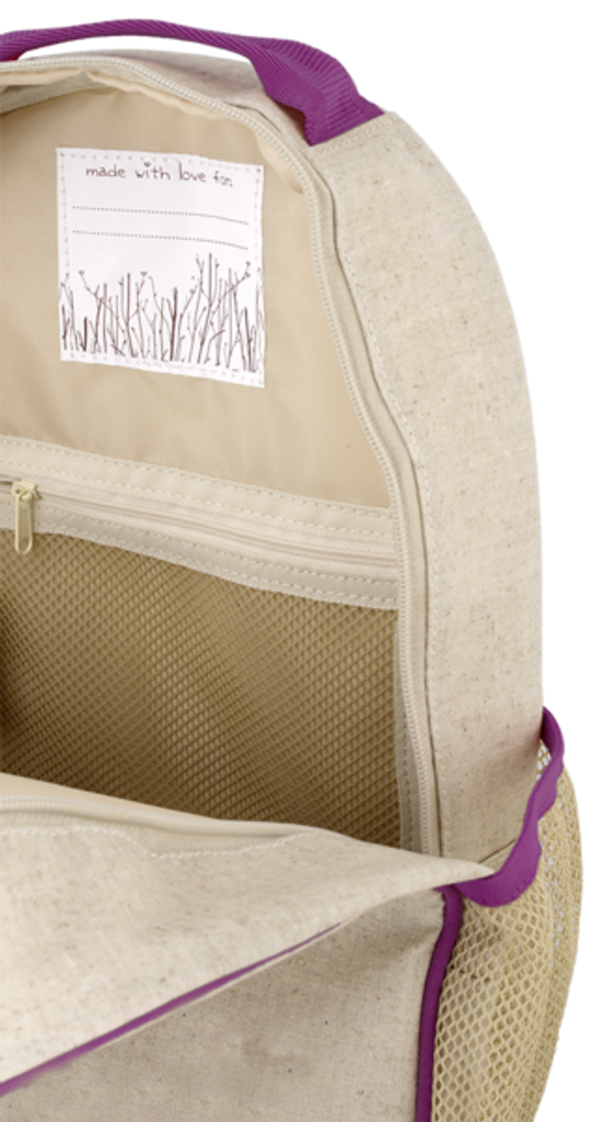So Young Raw Linen Toddler Backpack