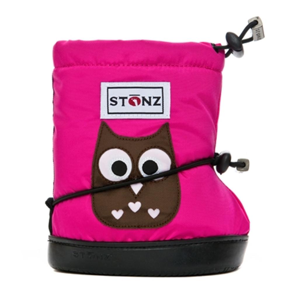 STONZ Booties PLUSFoam - Owl Fuchsia Size Medium and Large