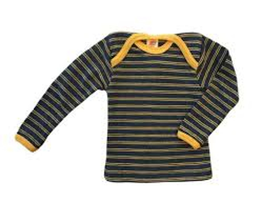 Engel Merino Wool Shirt - Saphire/Sunshine Yellow