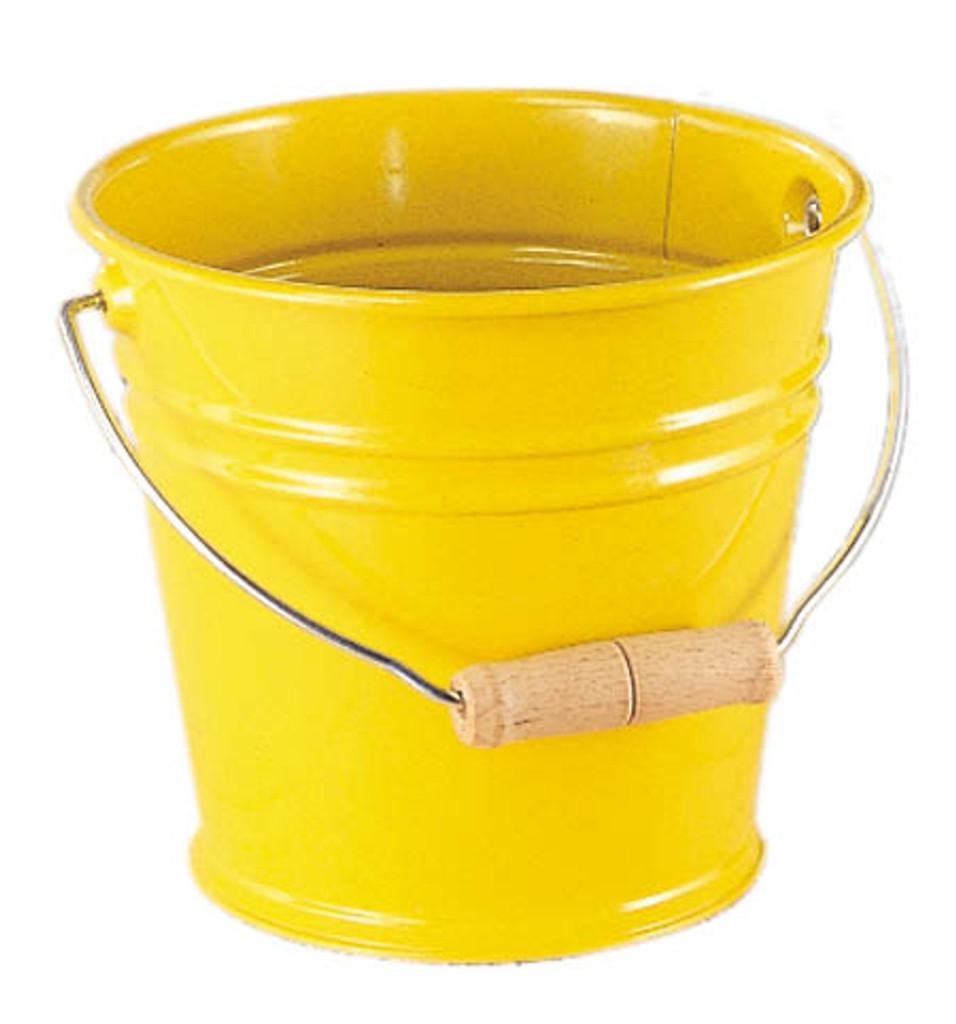 Metal Bucket - Yellow