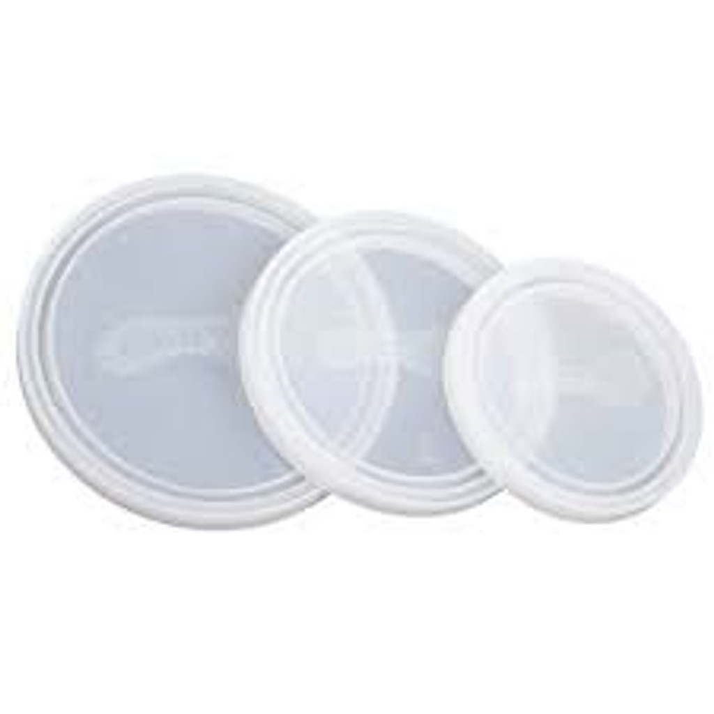 Replacement Lids for Round Nesting Trio - Clear