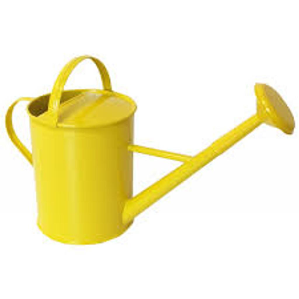 Enamel Watering Can - Yellow
