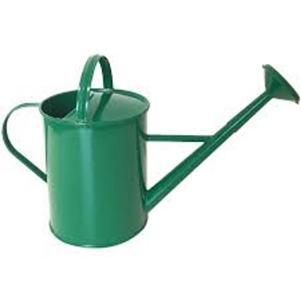 Enamel Watering Can - Green