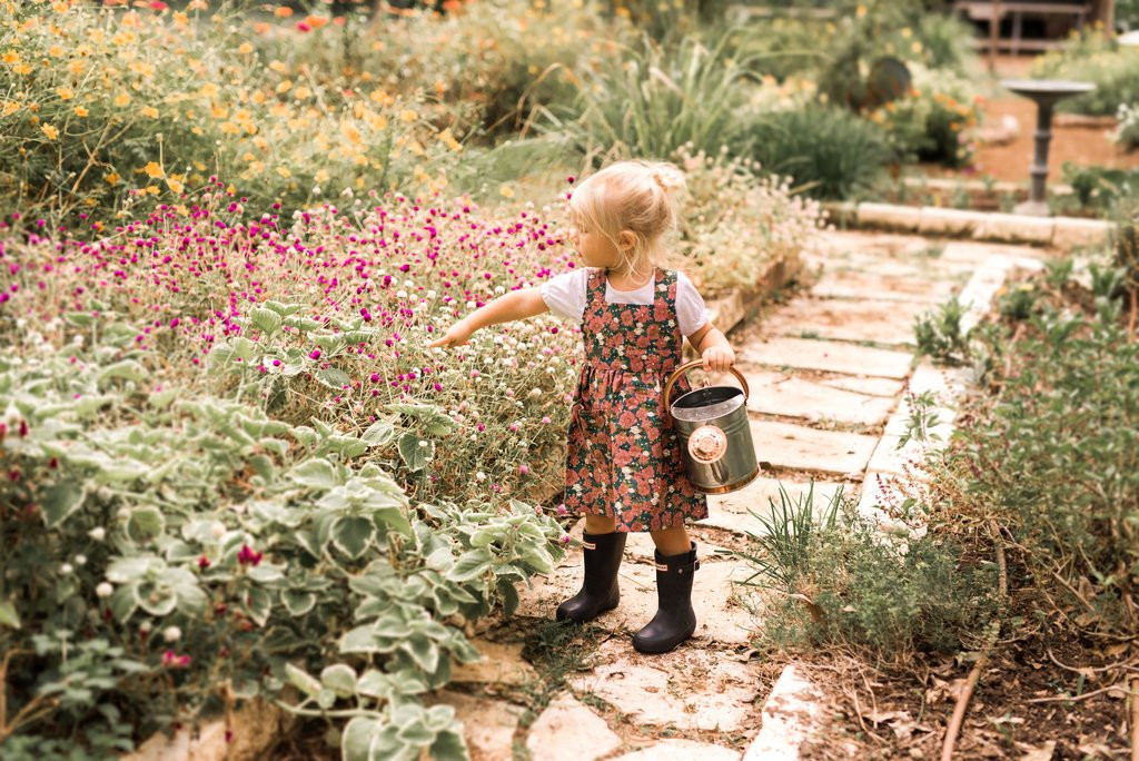 Milkbarn Organic Pinafore Apron - Teal Floral