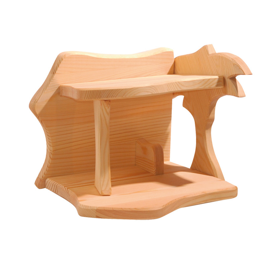 Ostheimer Wooden Small Stable with Palm Tree