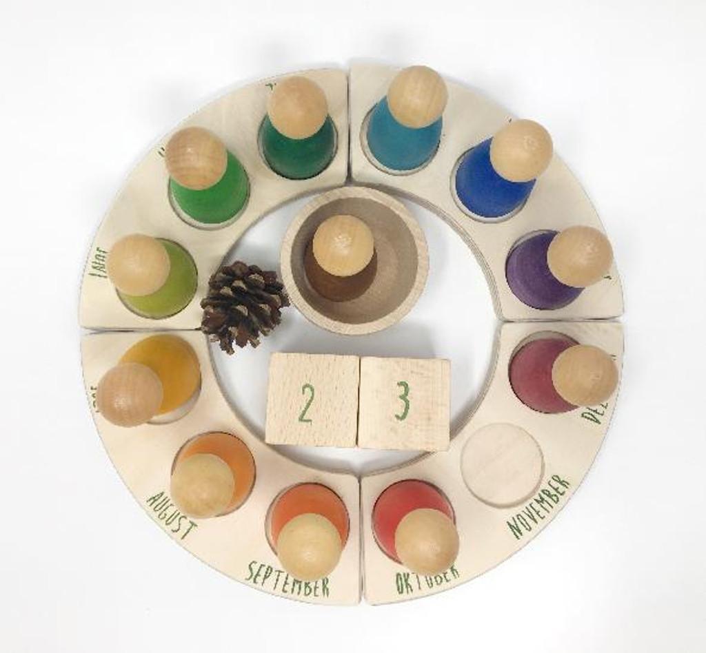 Grapat Perpetual Calendar German Waldorf Toys Montessori Toys