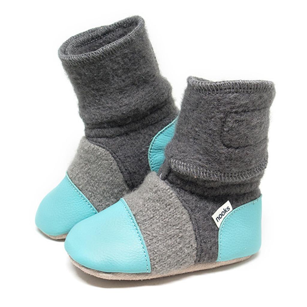 ooks Wool Booties - Lagoon