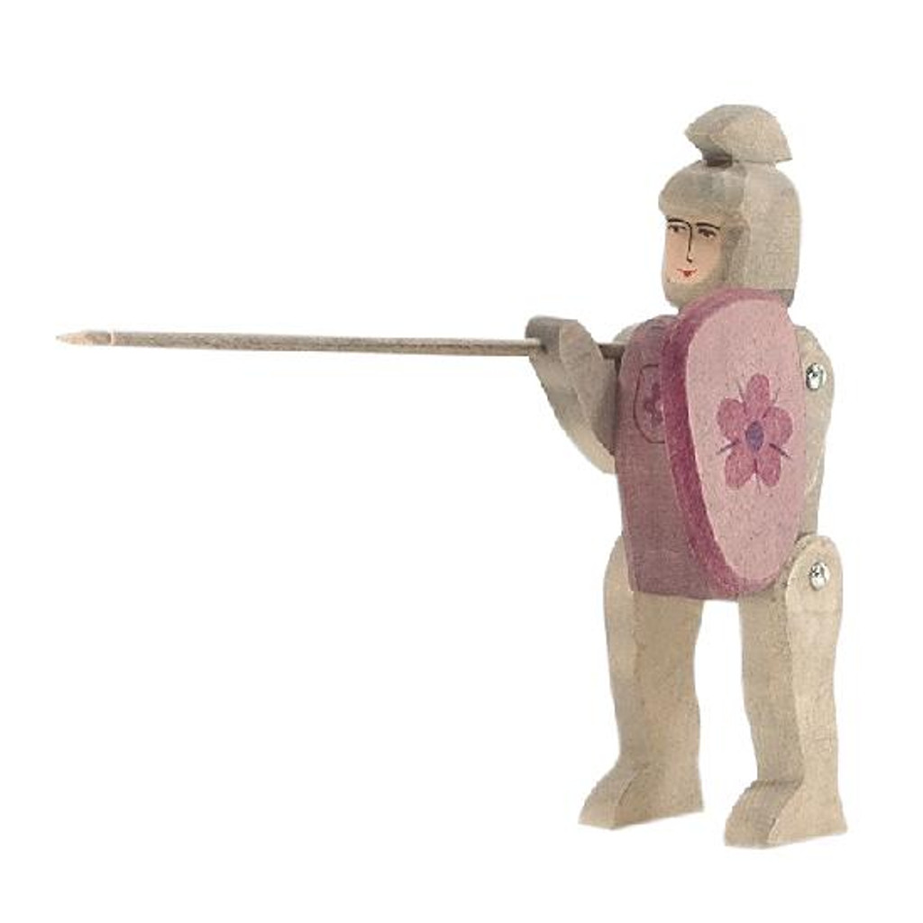 Ostheimer Wooden Knight Riding Red with Shield and Lance