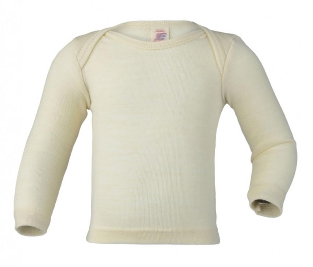 Engel Baby Shirt Organic Merino Wool/Silk - Natural