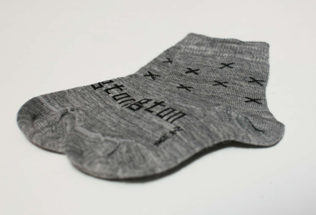 Lamington Crew Length Wool Socks Coop Grey X