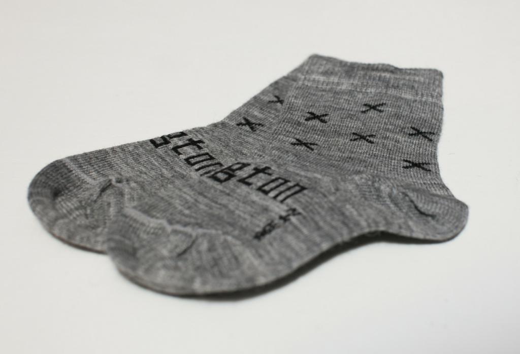 Lamington Crew Length Wool Socks Coop Grey X