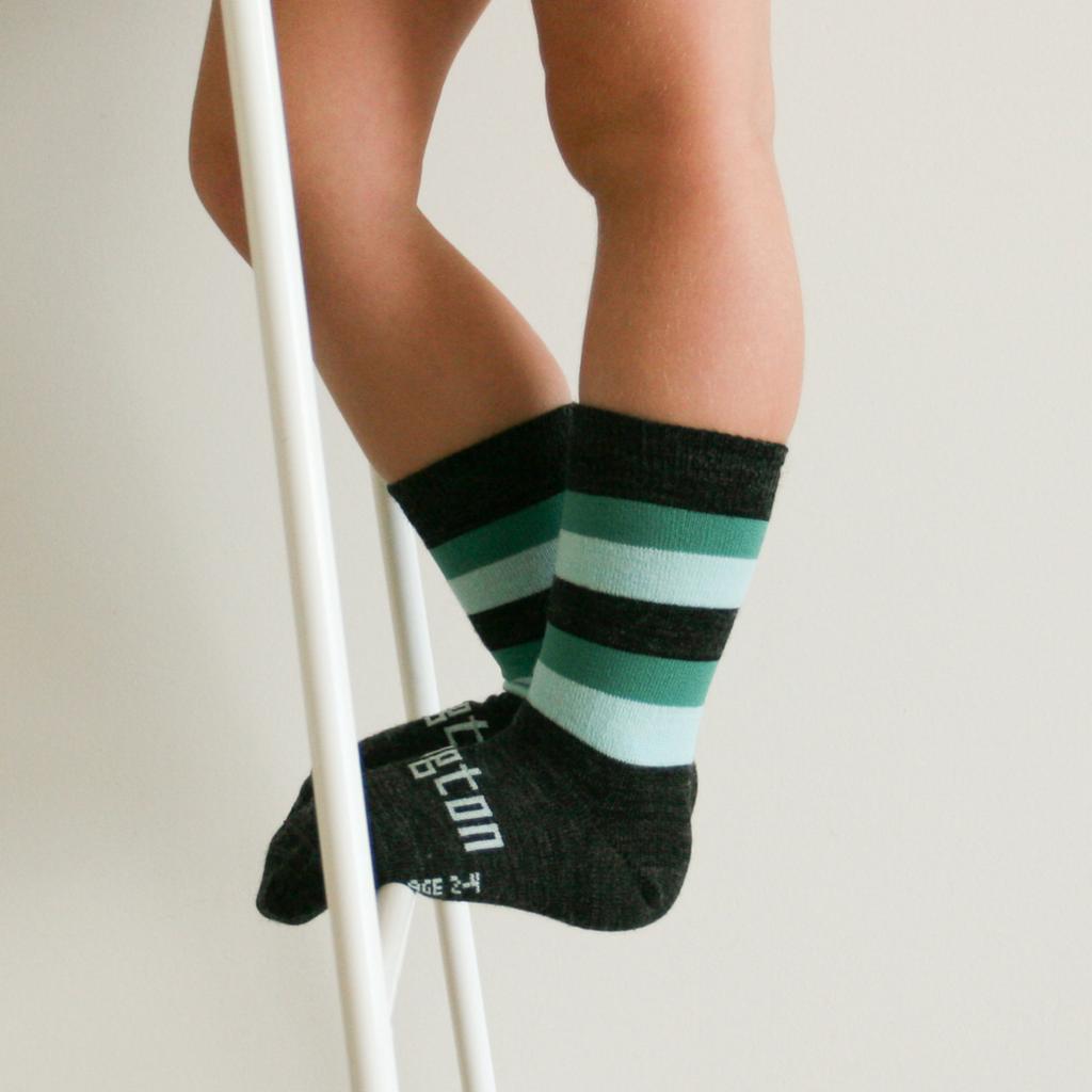 Lamington Crew Length Wool Socks Neptune