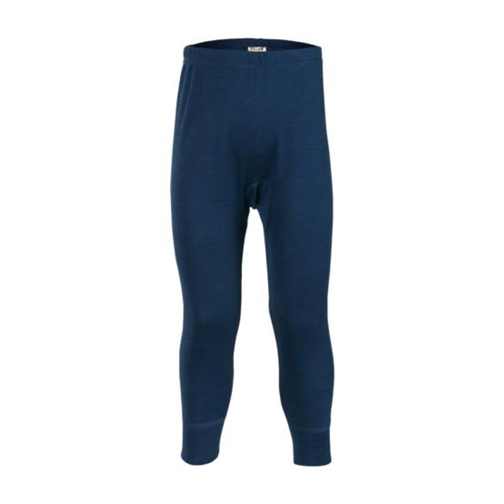 Living Crafts Kids Merino Wool Silk Long Johns - Solid Blue