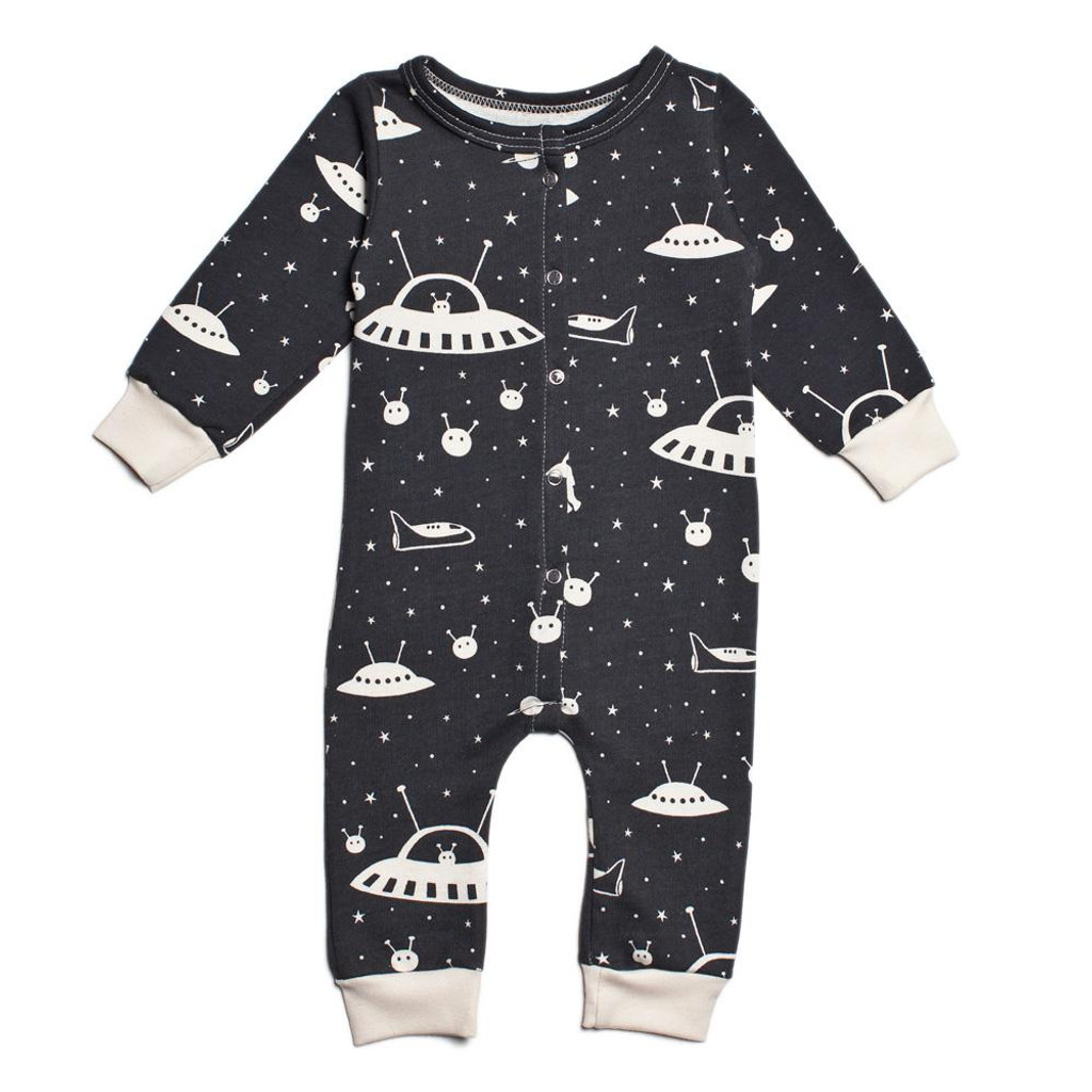 Winter Water Factory French Terry Jumpsuit - Counting Sheep Blue