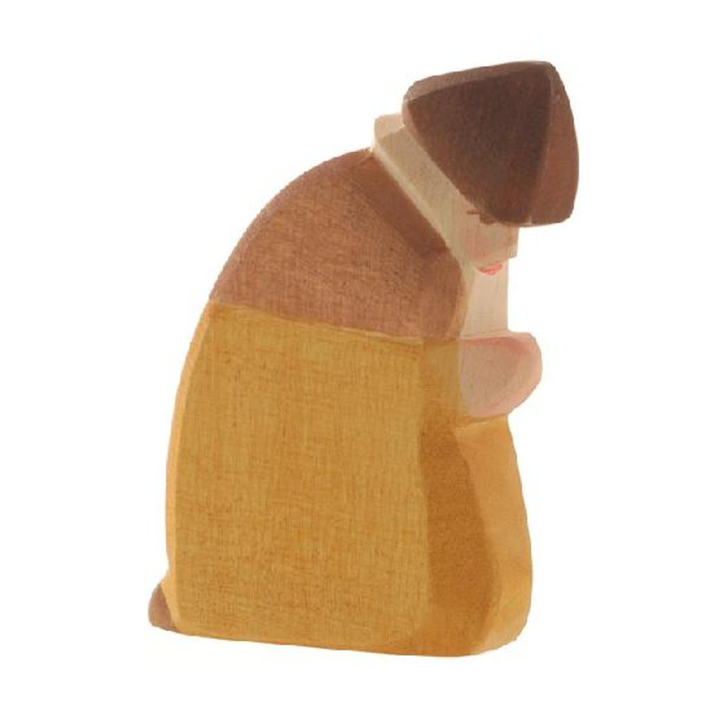 Ostheimer Nativity Figure - Shepherd Kneeling