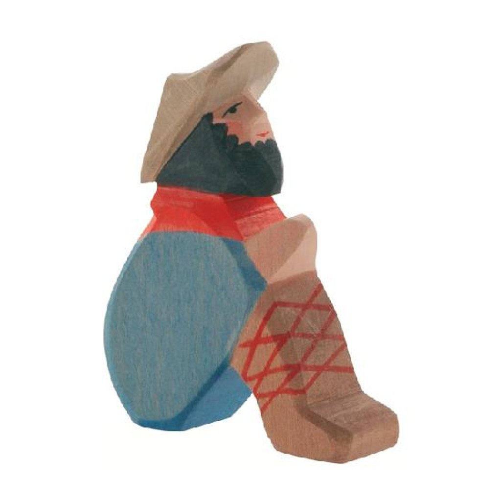 Ostheimer Nativity Figure - Shepherd Sitting