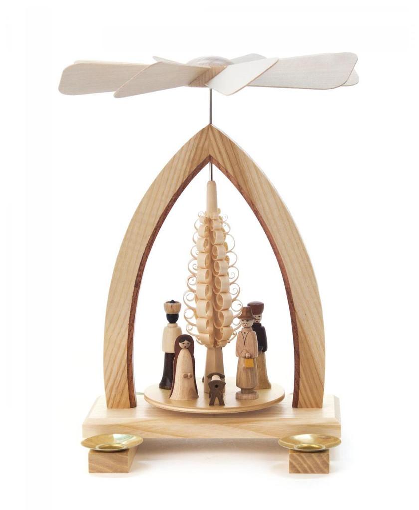 Erzgebirge Nativity Scene Pyramid