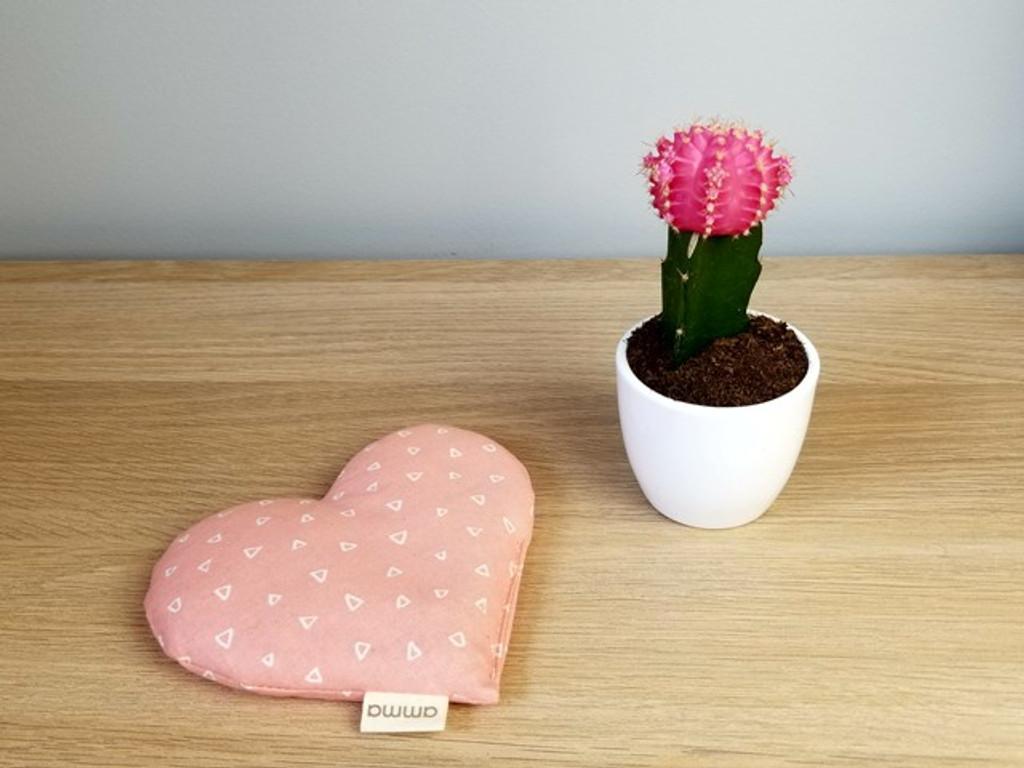 amma Therapie Heart Pillow - Pink Chai