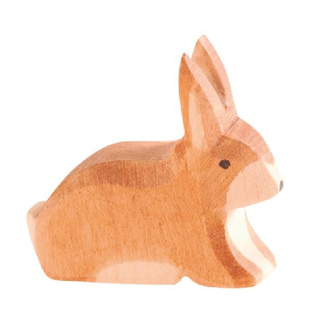 Ostheimer Wooden Spotted Rabbit Brown Sitting